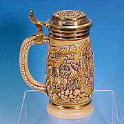 1987 AVON Collectible Stoneware Beer Stein GOLD RUSH Discontinued!