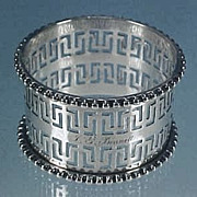 Victorian-era Silver Plate Napkin Ring Pierced / Reticulated