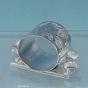 Victorian MIDDLETOWN PLATE Quadruple Silverplate Figural Napkin Ring
