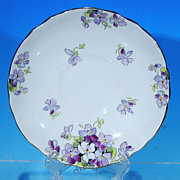 Vintage Crown STAFFORDSHIRE Fine Bone China Saucer #F15972