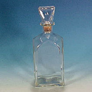 Vintage Clear Glass WHISKEY Decanter Bottle Gothic Flying Buttress Arch Shape Corked Glass ...