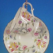 Vintage MINTON Porcelain Bone China Teacup / Tea Cup & Saucer Set - HADDON HALL