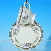 Vintage PICKARD Porcelain Teacup Tea Cup & Saucer Set NAVARRE - Boxed & Discontinued