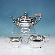Antique English Silverplate TEA SET - FRANCIS HIGGINS & SON, England