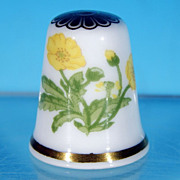 Vintage SPODE Bone China BUTTERCUP Collectible Thimble