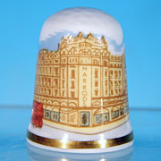 Vintage CAVERSWALL Fine Bone China Thimble HARRODS, London