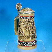 "Vintage 1988 AVON Collectible Stoneware Beer Stein ""Indians of the American Frontier"""