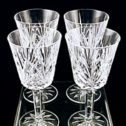 Discontinued French Crystal  VILLEMONT Water Goblets J.G. Durand - France by Cristal D'Arques