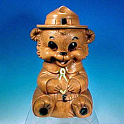 Vintage 1960 TWIN WINTON Figural SMOKEY THE BEAR Cookie Jar California Pottery