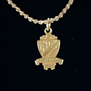 Vintage Gold-Tone Sarah Coventry &quot;S&quot; Chain Necklace with Beta Sigma Phi Charm