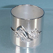 Victorian Silver Quadruple Silver Plate NAPKIN RING Bride's Wedding