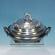 Victorian 3-Piece Footed VAN BERGH Quadruple Silver Plate Casserole Baking Serving Dish