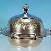 Van Bergh Quadruple Silverplate Silver Butter Dish
