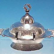 Barbour Brothers Quadruple Silverplate Covered Butter Dish #93