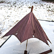 SALE SALE !!! Victorian child's parasol in original leather case circa 1890