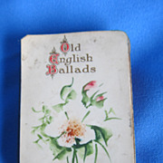 Antique little pocket book Old English Ballads