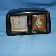 Vintage bakelite musical ballerina clock by Goldbuhl