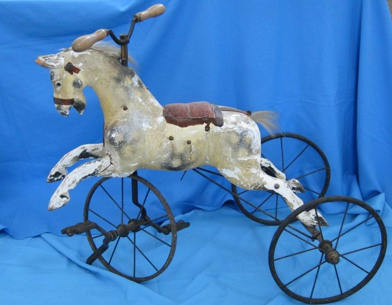 Lovely, rare antique 19th C  English velocipede