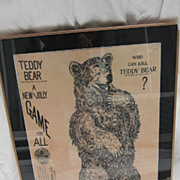 Teddy Bear Game copyright 1906 American printing co fabrics