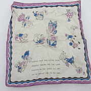 Vintage Brownie / Fairies Hankie