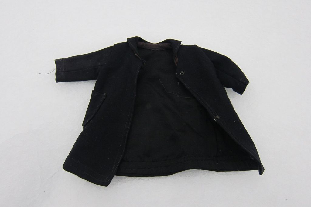 Vintage heavy black doll coat