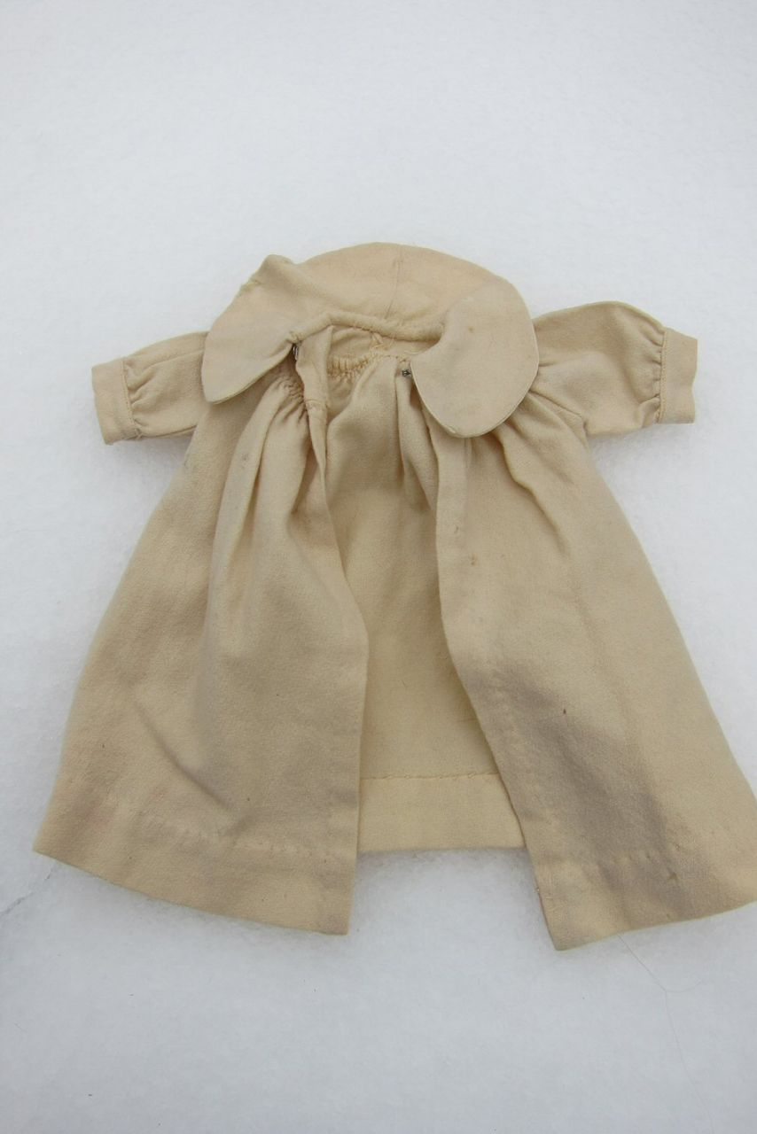 Pale yellow wool doll coat