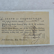1781 CT pay bill for military supplies/expenses