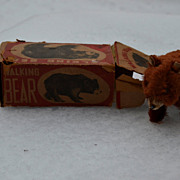Sousco wind up bear with box