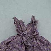 Purple Sun dress and sun hat for Vintage Doll