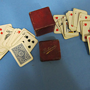 Minature Patience Playing Cards in box