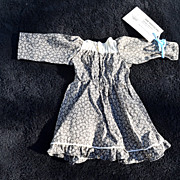 Vintage Grey and off white dress for doll