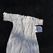Simple white dress for doll