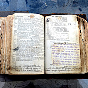 Very old bible with provenance froom Rosenberger family