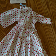Red polka dot doll dress