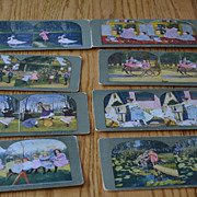 Lot of 8 color stereoview cards