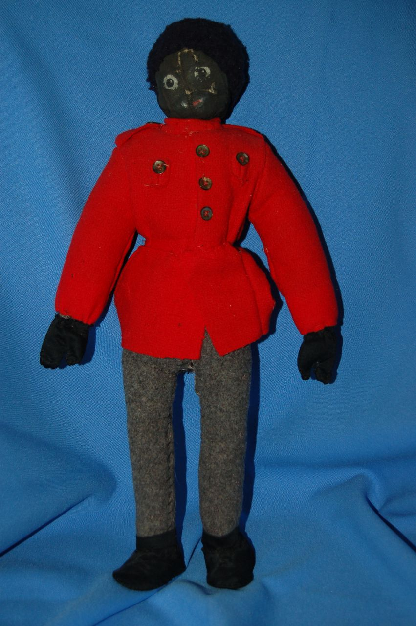 Cool black folk art cloth doll