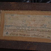 Child`s Sampler dated 1853