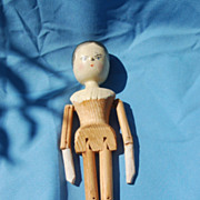 Proud dutch wooden doll