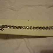 "SALE PENDING Super Signed Weiss 3 Row Rhinestone 7"" Bracelet"