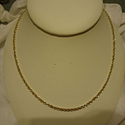 "Beautiful 14k Yellow Gold 18"" Rope Chain Necklace"