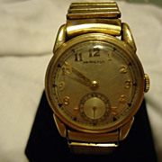 Men's 10k Gold Filled Hamilton 17 Jewel WWII Military Wristwatch
