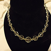"Gorgeous 1930s Cut Crystal 15.5"" Necklace"