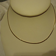 "Beautiful 14k Yellow Gold 15.5"" Chain Necklace"