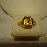 Fantastic 14k Yellow Gold 2ct Citrine Size 6.5 Ring