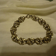 "Super Sterling Silver Twisted Link 7.5"" Bracelet"