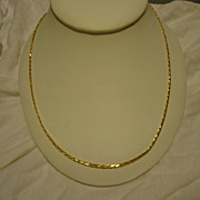 "Super Vintage 14k Yellow Gold 20"" Necklace"