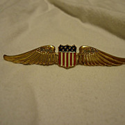 WWII Era Sterling Craft by Coro Sweetheart Wings Brooch