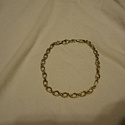 "Unusual 14k Yellow Gold Bolivia 8.25"" Bracelet"