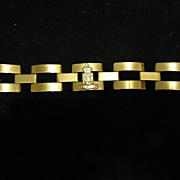 "SALE Beautiful Belgique Belgium Heavy Brass Link 7"" Bracelet"