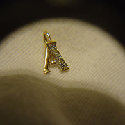 "SALE Beautiful 14k YG ""A"" Diamond Charm"